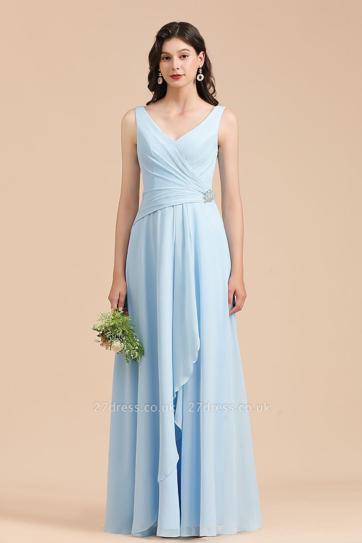 Stylish Sleeveless Aline Chiffon Bridesmaid Dress Formal Event Dress