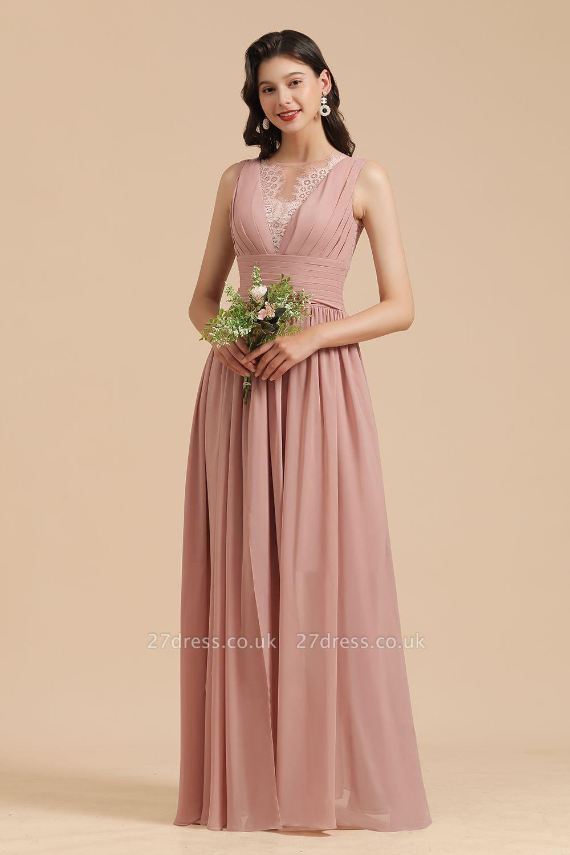 Halter Ruffle Chiffon Aline Bridesmaid Dress Wedding Party Dress