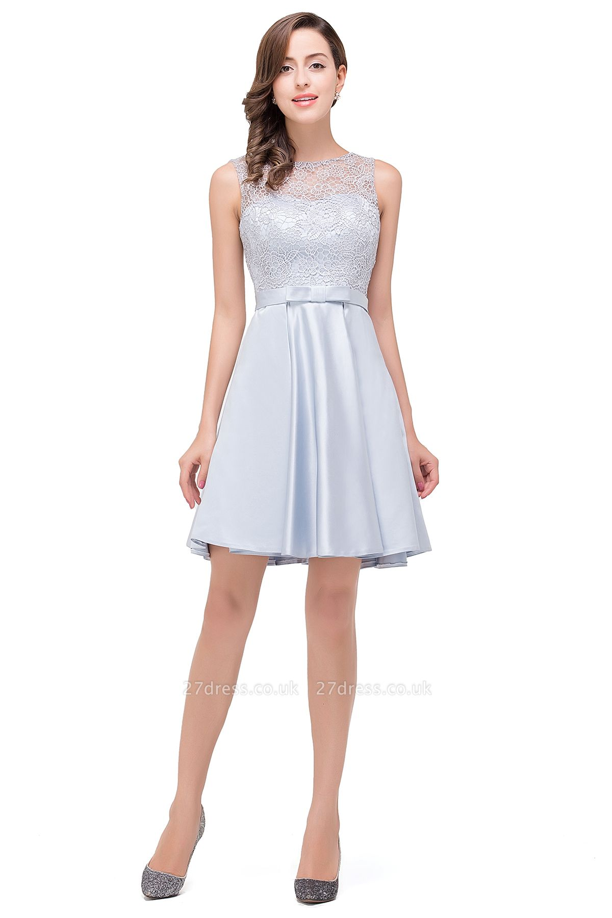 Short Lace Sexy Sleeveless Zipper Homecoming Dress UK