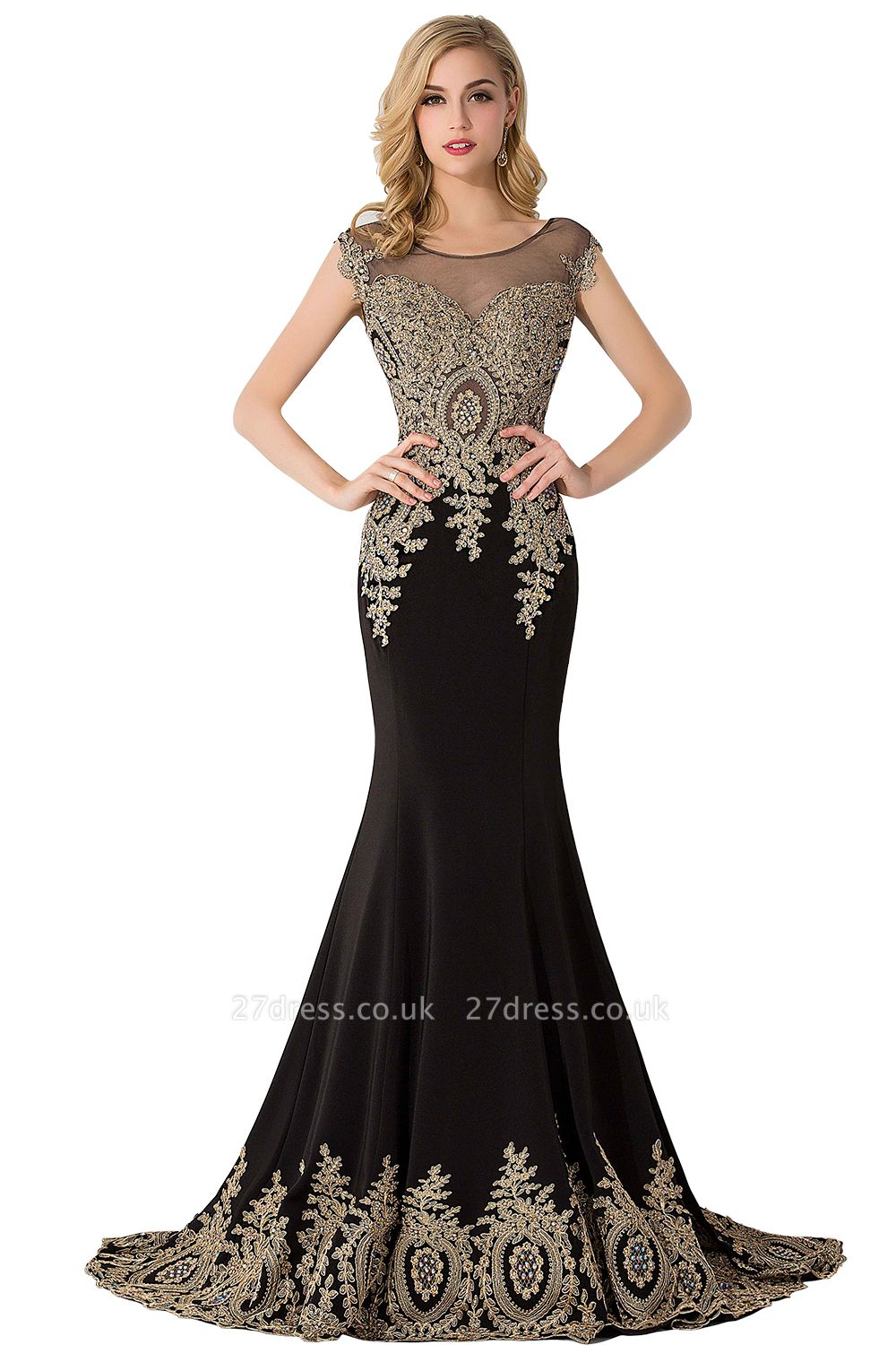 ABIGAIL | Mermaid Court Train Chiffon Evening Dress with Appliques