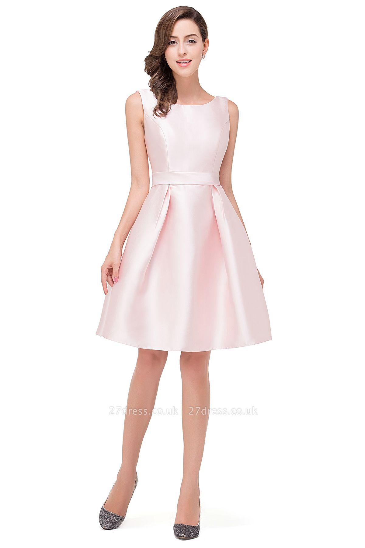 Lovely Pink Sleeveless Short Homecoming Dress UK Zipper Back