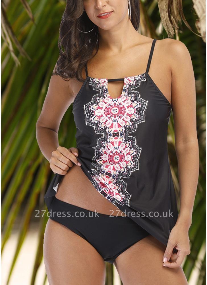 Women Tankini Plus Size Swimsuit Tribal Printed Padded Sexy Bikini Set Push Up Beachwear