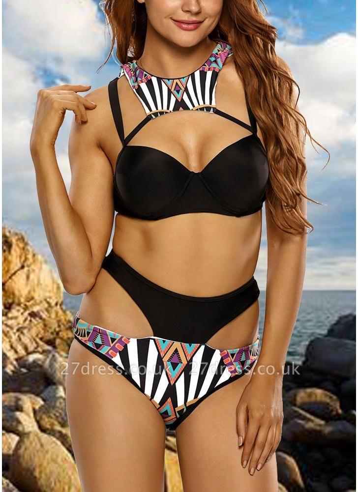 Women Sexy Bikini Set Swimsuit Push Up  Cut Out Printed Padded Two Piece Swimwear