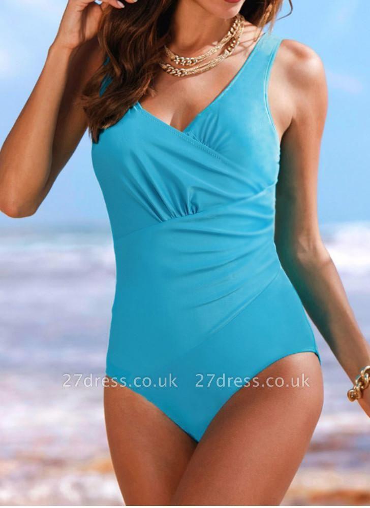 Women's Vintage Plus Size Ruffled Backless Monokini Swimsui
