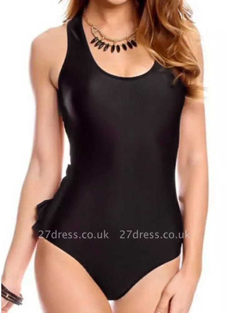 Women One Piece Swimsuit Backless Ruffle Bodysuit Monokini
