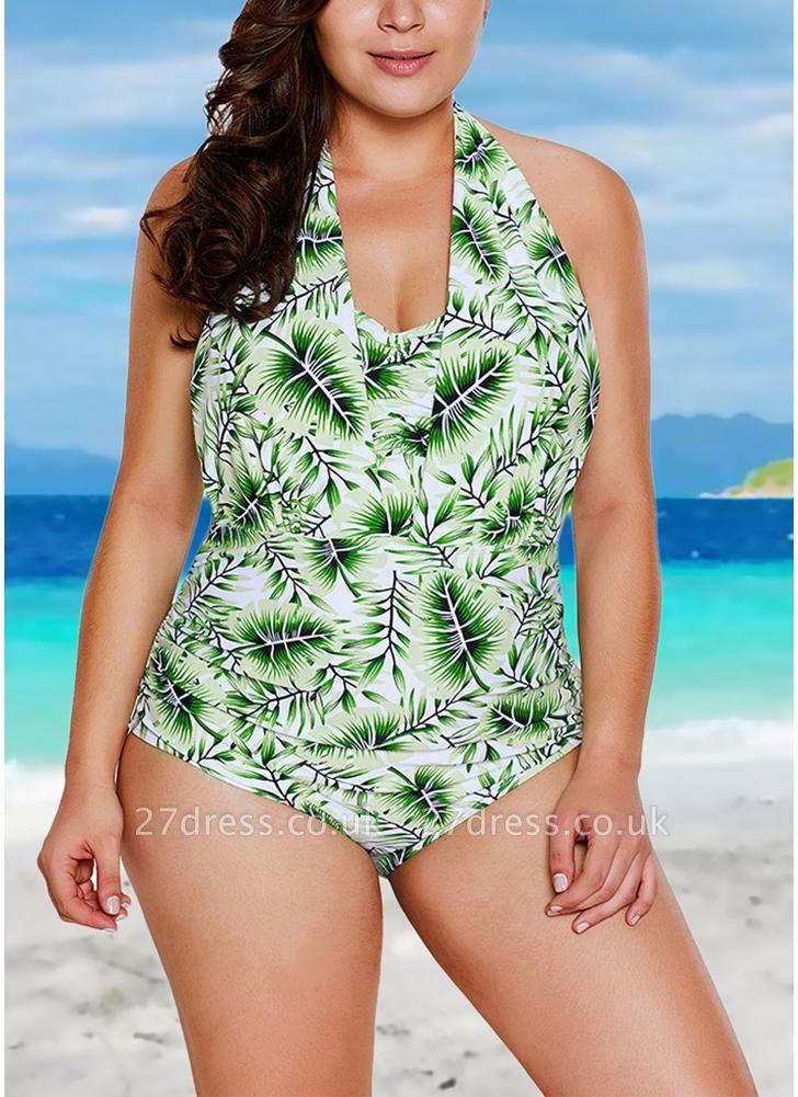 Halter Neck Backless Swimwear Padded Push Up Swimsuit