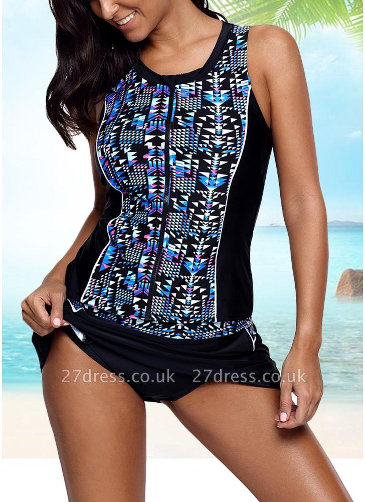 Women Sexy Bikini Set Geometric Print Padded Wireless Swimwear Swimsuits