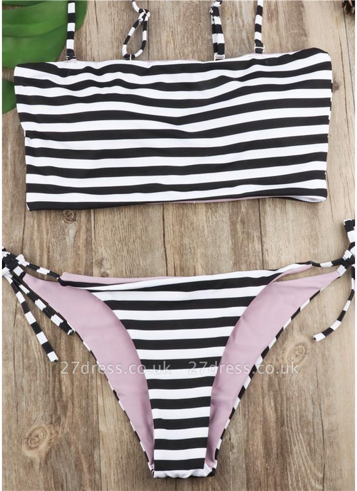 Women Striped Sexy Bikini Set Spaghetti Strap Summer Beach Swimwear