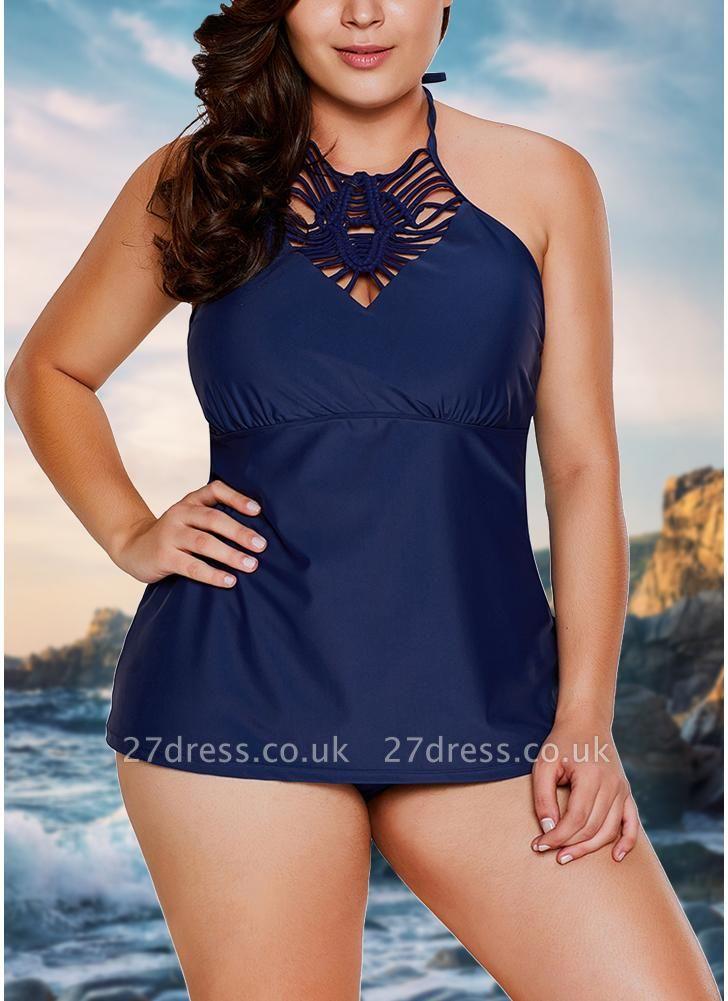 Women Halter Tankini Top Brief Set Swimsuit Padded Sexy Bikini  Swimwear