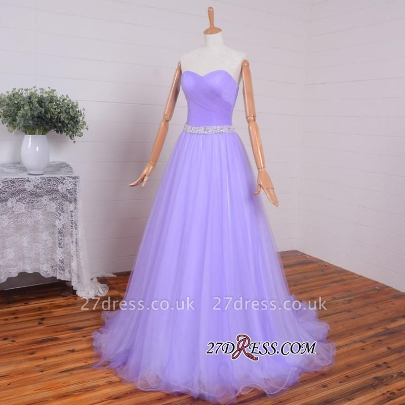 Beading Sweetheart A-line Sleeveless Romantic Evening Dress UK