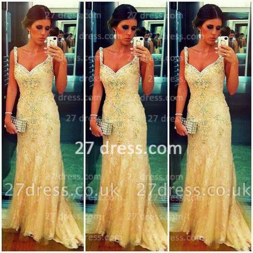 High Quality  Turkish Prom Dress UK Spagetti Strap Lace Sheath Evening Dress UKes UK From Dubai