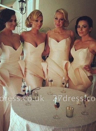 Long Simple Bridesmaid Dress UK Special Design Sweetheart Mermaid Prom Dress UK 2d2012