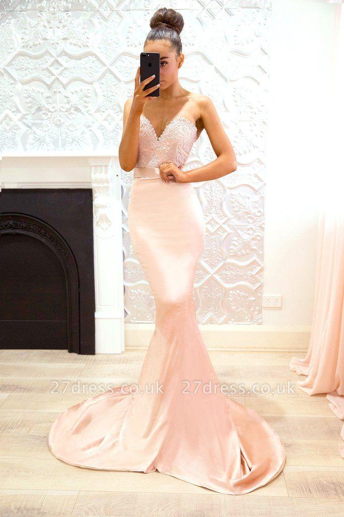 Luxury Sweetheart Lace Prom Dress UK | Mermaid Bridesmaid Dress UK