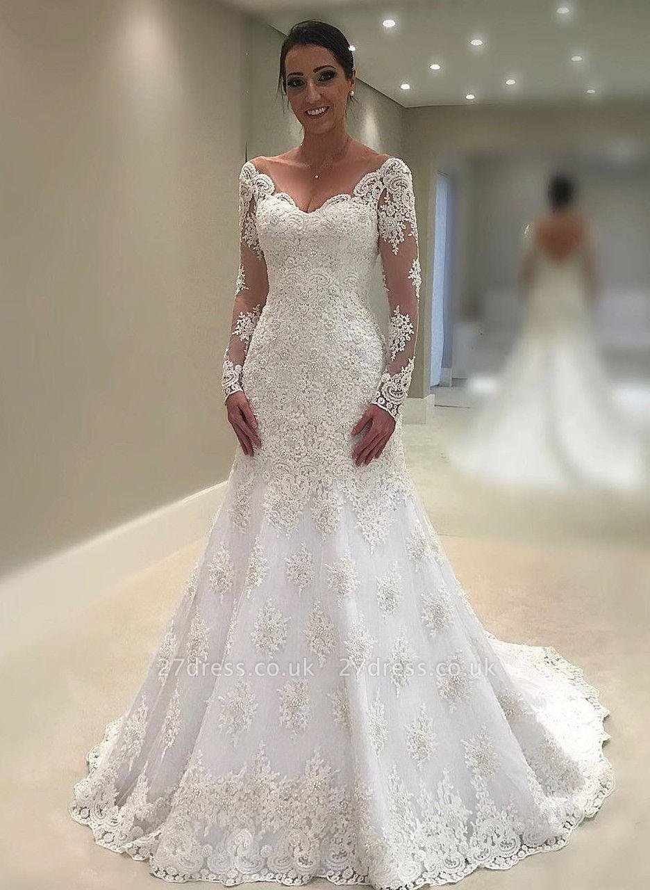 725e3da20c Elegant Long Sleeve Wedding Dress
