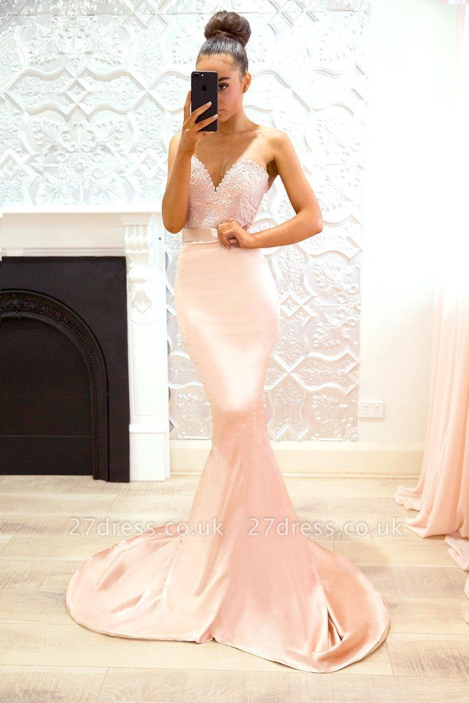 Luxury Sweetheart Lace Prom Dress UK   Mermaid Bridesmaid Dress UK