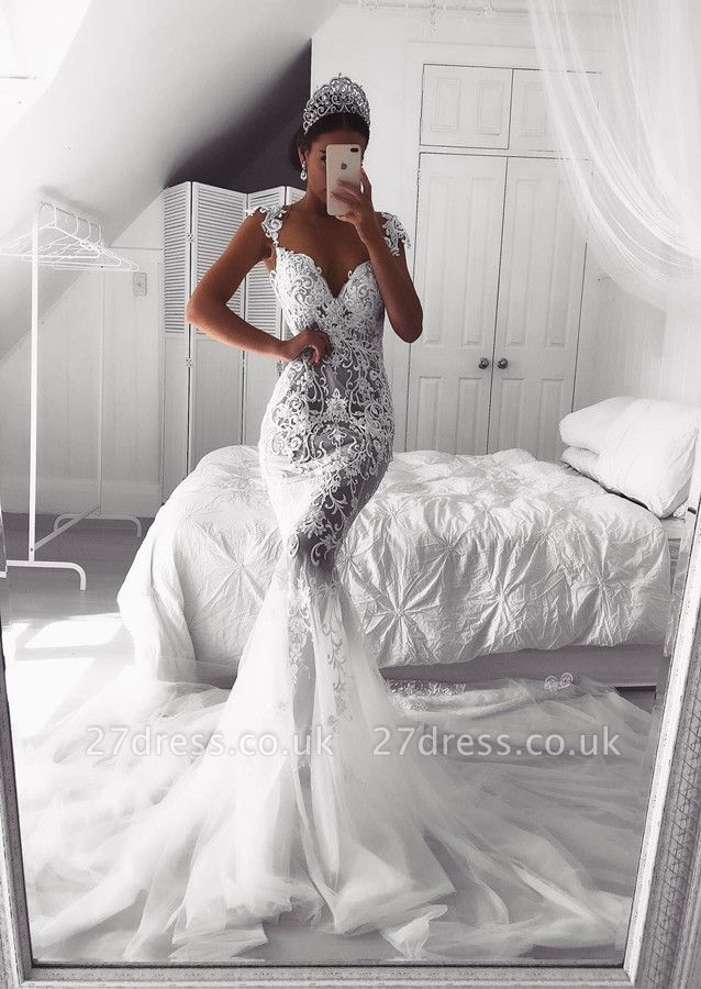 Gorgeous Sweetheart Lace Wedding Dress | 2019 Sexy Mermaid Bridal Gowns