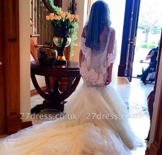 Newest Style Lace Wedding DressSexy Mermaid Tulle Bridal Gowns