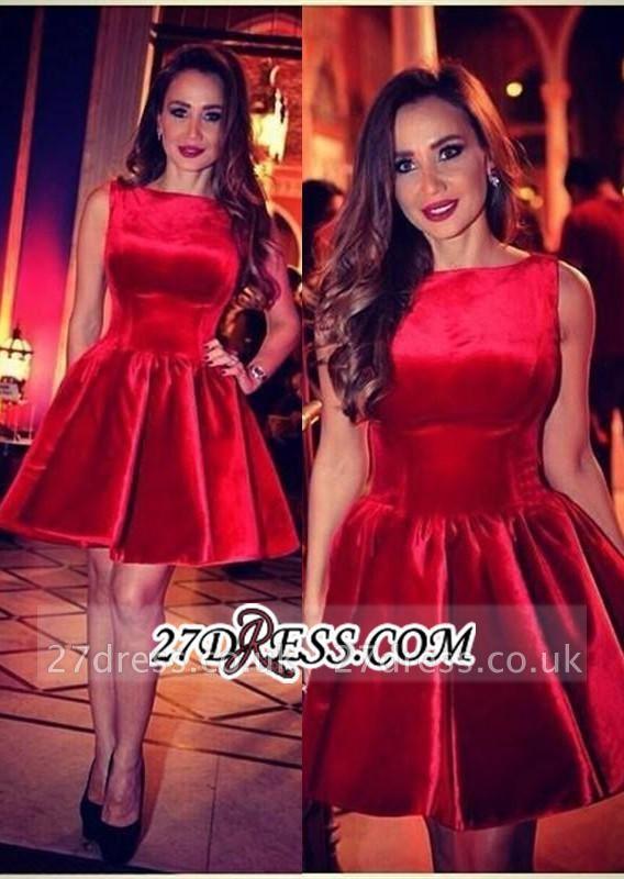 Sleeveless Designer Short Elegant Red Homecoming Dress UK
