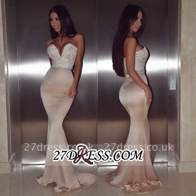 mermaid Lace Luxury Sweetheart Floor-Length beadings Evening Dress UK BA4232