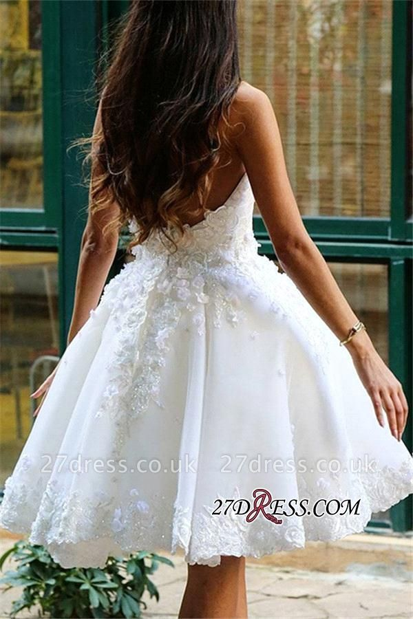 Lace Appliques Sweetheart Short Charming Homecoming Dress UK