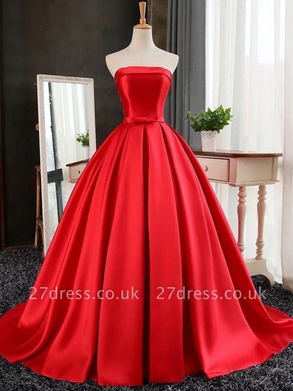 Elegant Strapless Prom Dress UK Long Womens Evening Party Dress UK