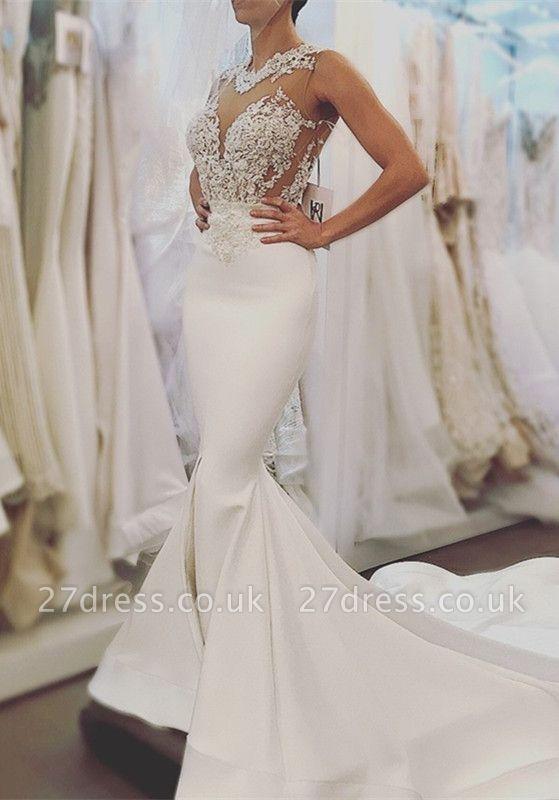 Lace wedding dress, Sexy Mermaid bridal gowns BA8049