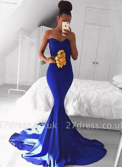Sexy Sweetheart Mermaid Royal Blue Prom Dress UK Floor Length On Sale BA8046