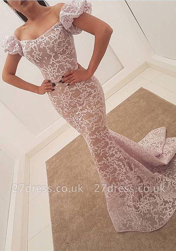 Luxury Bubble Sleeve Evening Dress UK | 2019 Mermaid Sequins Prom Party Dress UK