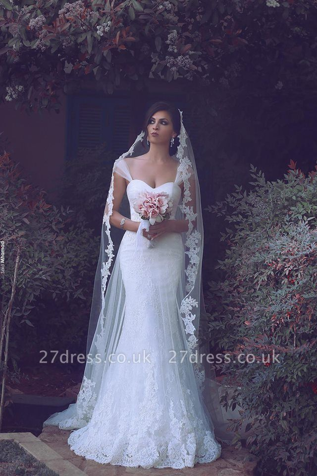 Sexy Mermaid Lace Bridal Gowns New Arrival Custom Made Long Wedding Dresses UK