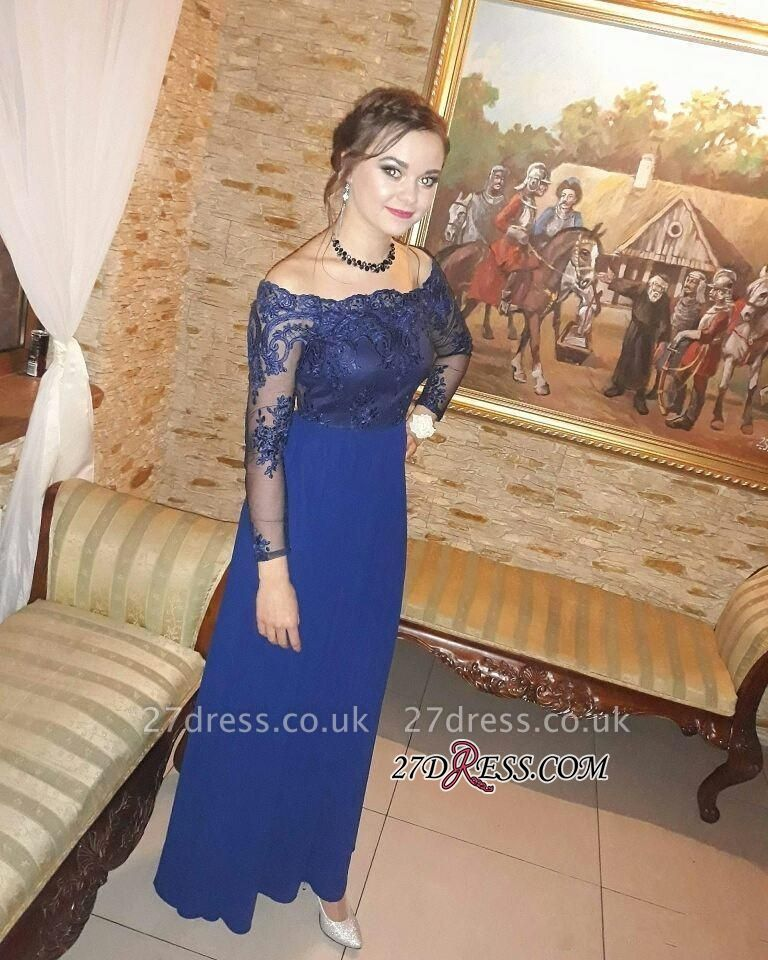 Long-Sleeves Prom Dress UKes UK | Lace Evening Party Gowns