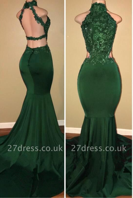Green lace mermaid prom Dress UK, green evening Dress UK