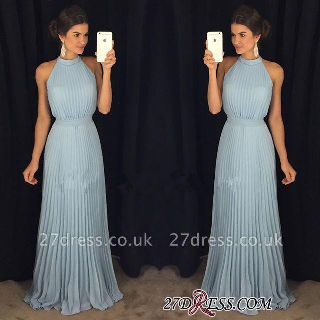 Luxury Floor-Length Sleeveless Long Halter Evening Dress UK AP0