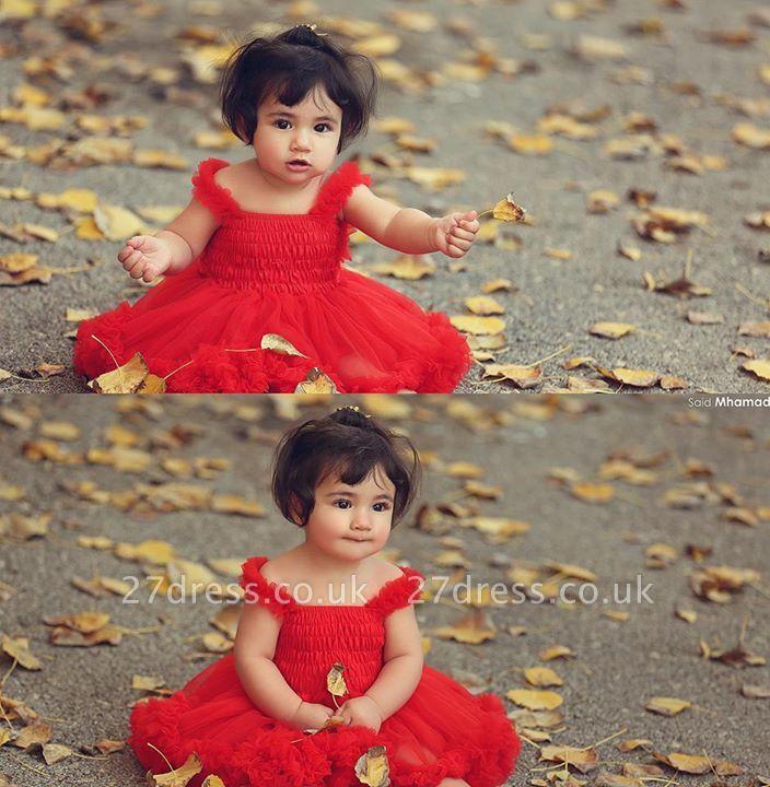 Lovely Red Tulle  Flower Girls Tutu Dress UK Online