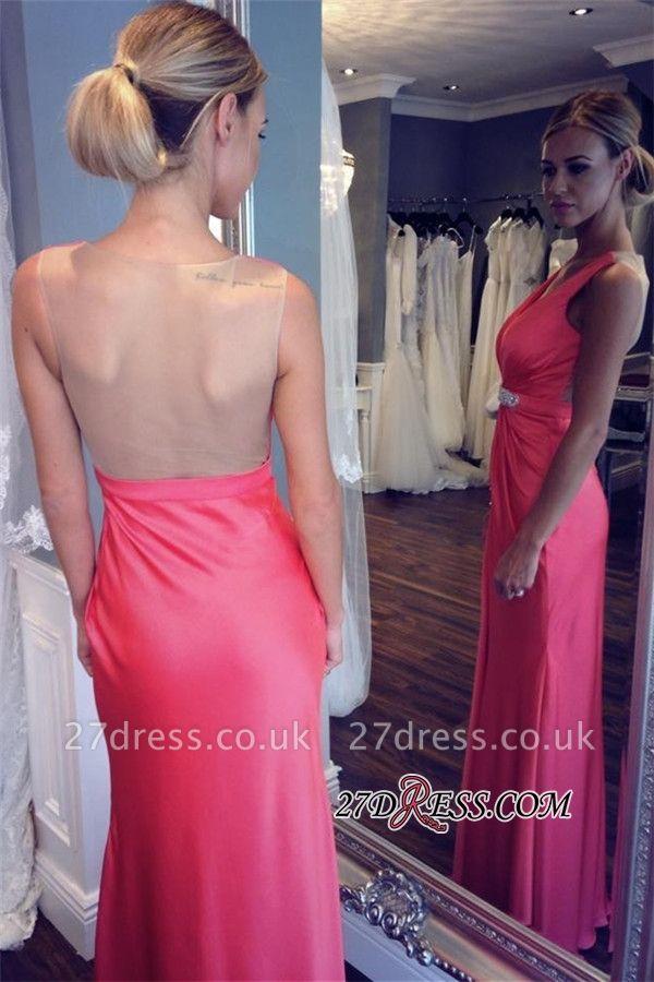 Elegant V-neck Formal Dress UK   Prom Dress UK With Slit