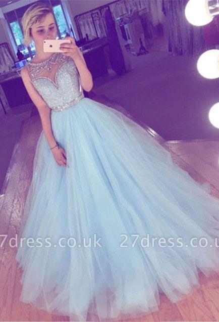 Tulle crystal prom Dress UK, evening Dress UK long