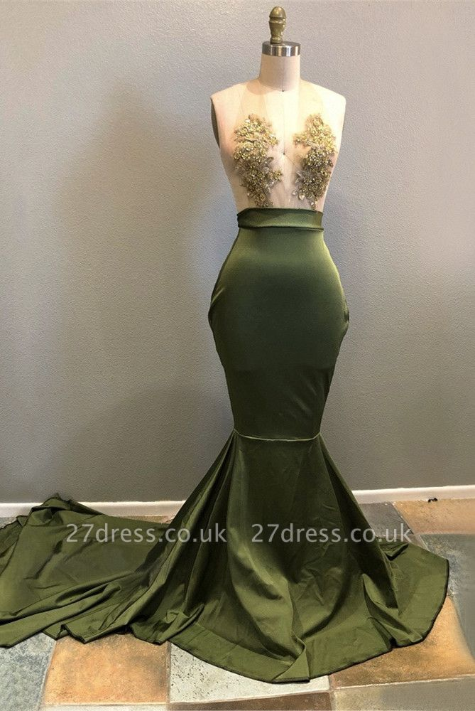 Halter Lace Appliques Prom Dress UK   Mermaid Evening Gowns RM0