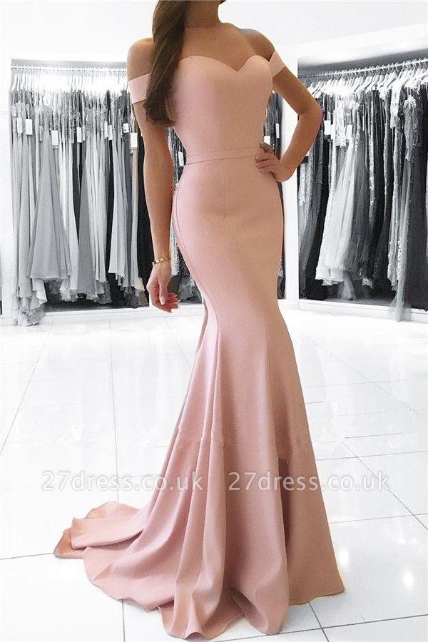 Sexy Simple Off-the-Shoulder Formal Dress UK Mermaid Prom Dress UK BA6926