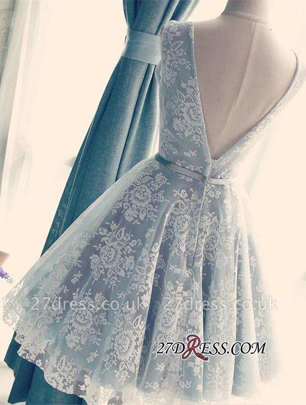 Lace Gorgeous Sleeveless V-Neck Short A-Line Homecoming Dress UKes UK
