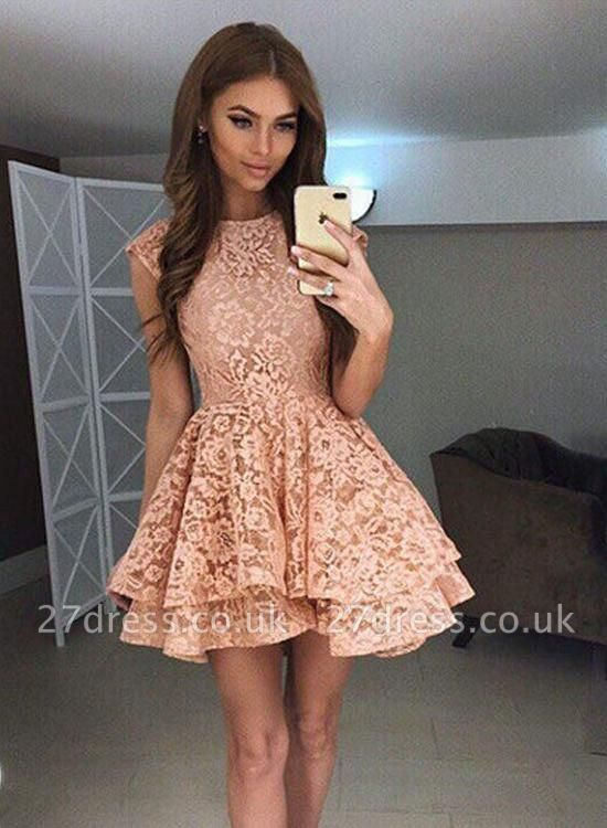 Luxury Sleeveless Lace Short Homecoming Dress UK On Sale