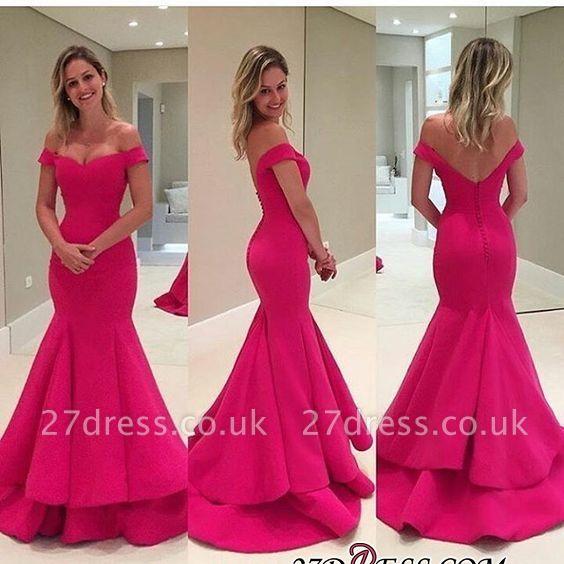 Elegant Off-the-Shoulder Prom Dress UK | Long Mermaid Evening Gowns