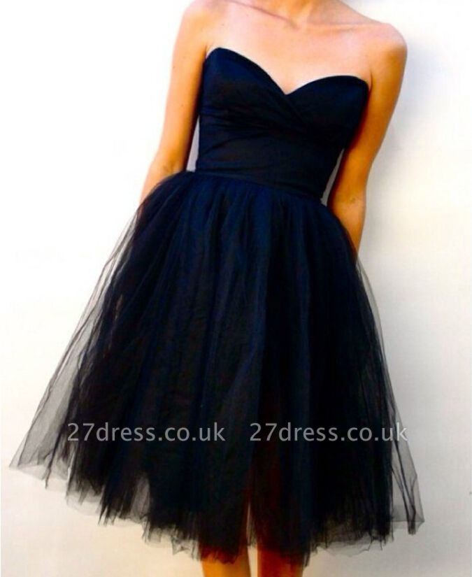 Sweetheart Eleggant Simple Design Tulle Bridesmaid Dress UK