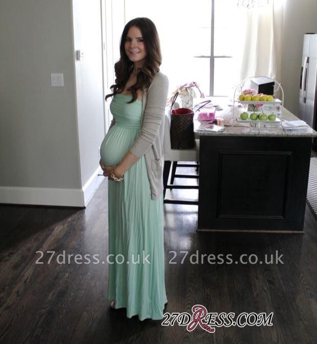 Maternity Sleeveless Newest A-line Strapless Floor-length Prom Dress UK