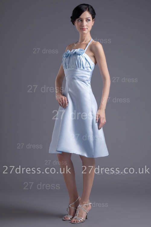 Modern Halter Sleeveless Short Cocktail Dress UK Flowers A-line