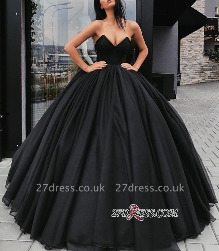 Black ball gown prom Dress UK, evening Dress UKes UK BA8310