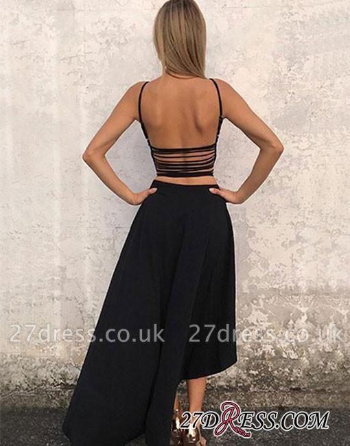 Sleeveless Stylish High-low Chiffon Backless A-line Evening Dress UK