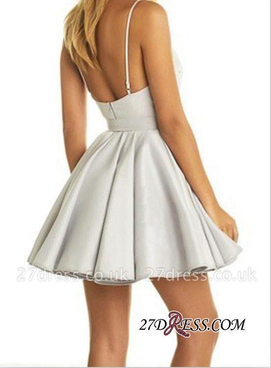 Cute Sleeveless V-neck Short Lace Homecoming Dress UK BA6972
