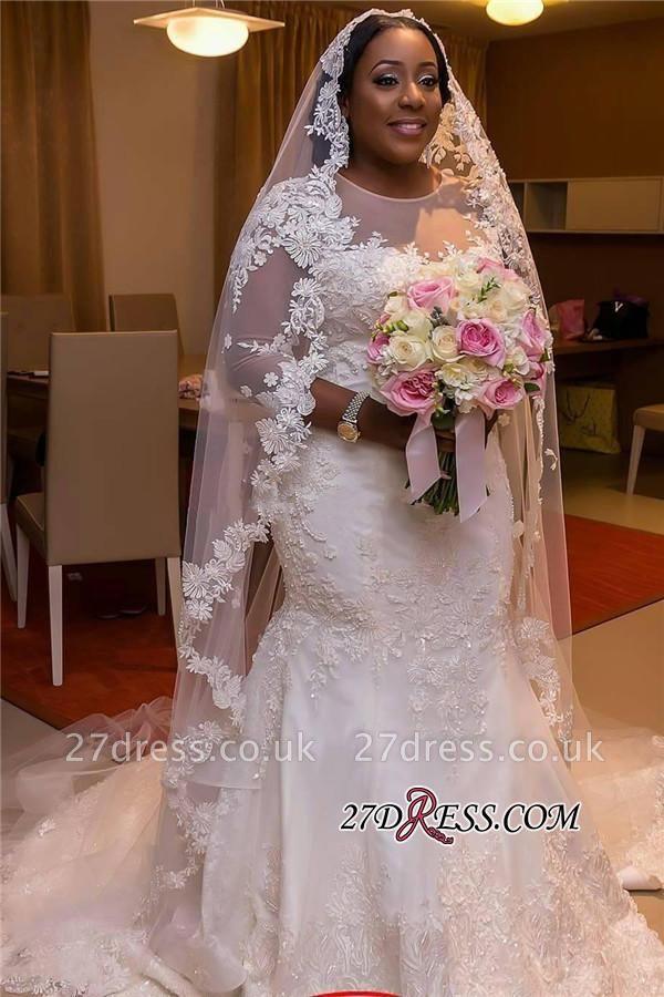 Plus Size Wedding Dress, Long Sleeve Bridal dresses BA3984