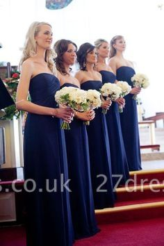 Royal Blue Evening Chic Chiffon Long Bridesmaid Dress UKes UK