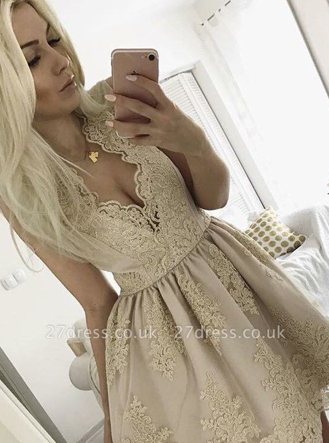 Lovely Lace Appliques Short Homecoming Dress UK On Sale