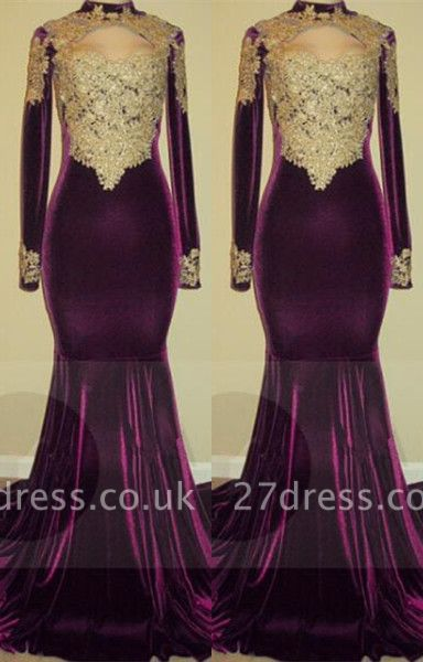 Lace long sleeve mermaid prom Dress UK, evening gowns online BA7801